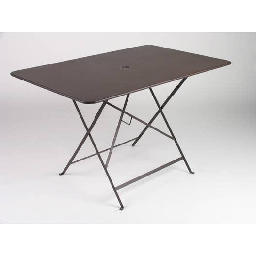 Table de jardin fermob bistro rectangulaire rouille 6 for Table 3 personnes