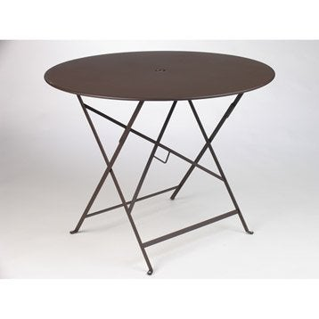 Table de jardin aluminium bois r sine leroy merlin - Table bistro jardin ...