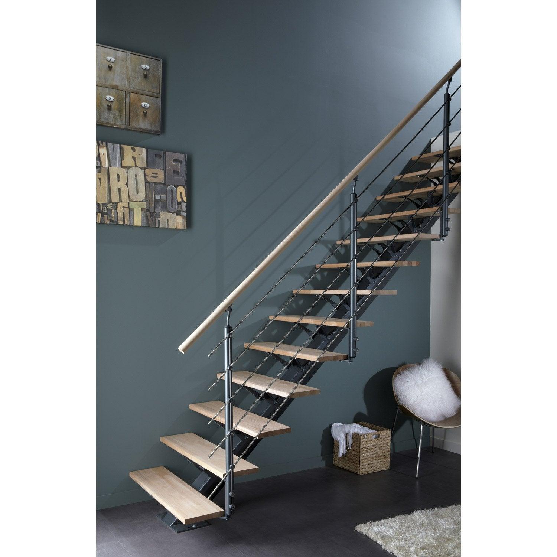 escalier droit metal leroy merlin