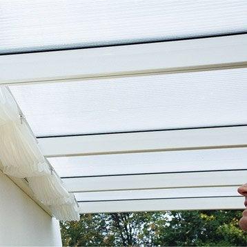 Store polyester blanc l.322 x L.307 cm