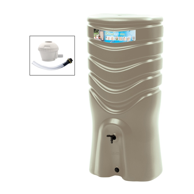 r cup rateur d 39 eau et collecteur a rien eda rectangulaire taupe 350 l leroy merlin. Black Bedroom Furniture Sets. Home Design Ideas