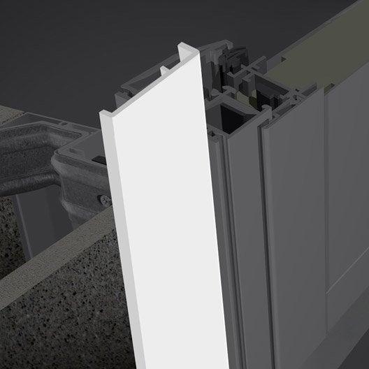 profil int rieur pour porte aluminium 215x90 cm primo blanc leroy merlin. Black Bedroom Furniture Sets. Home Design Ideas