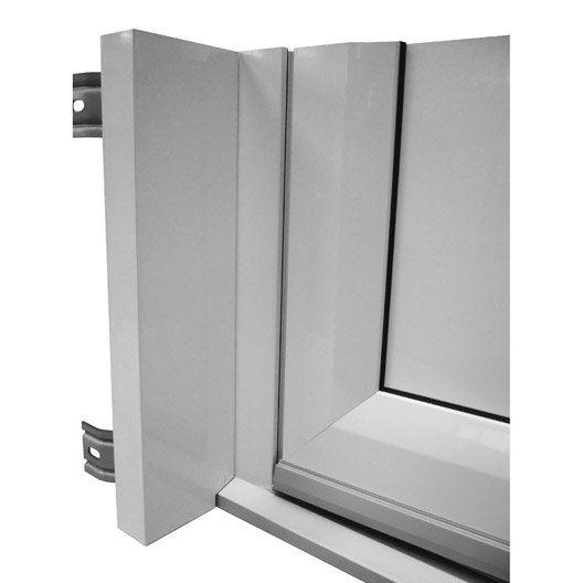 tapée d'isolation pour porte d'entrée h.215 x l.90 cm aluminium