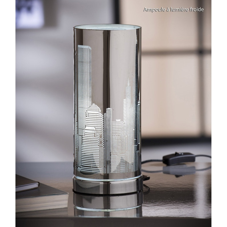 Lampe E14 New York Inspire Metal Chrome 25 W Leroy Merlin