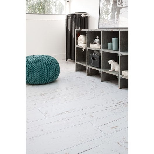 sol vinyle texline hqr hometown white coupe 4 m leroy merlin. Black Bedroom Furniture Sets. Home Design Ideas