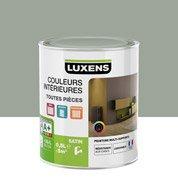 Peinture gris smoke 5 LUXENS Couleurs intérieures satin 0.5 l