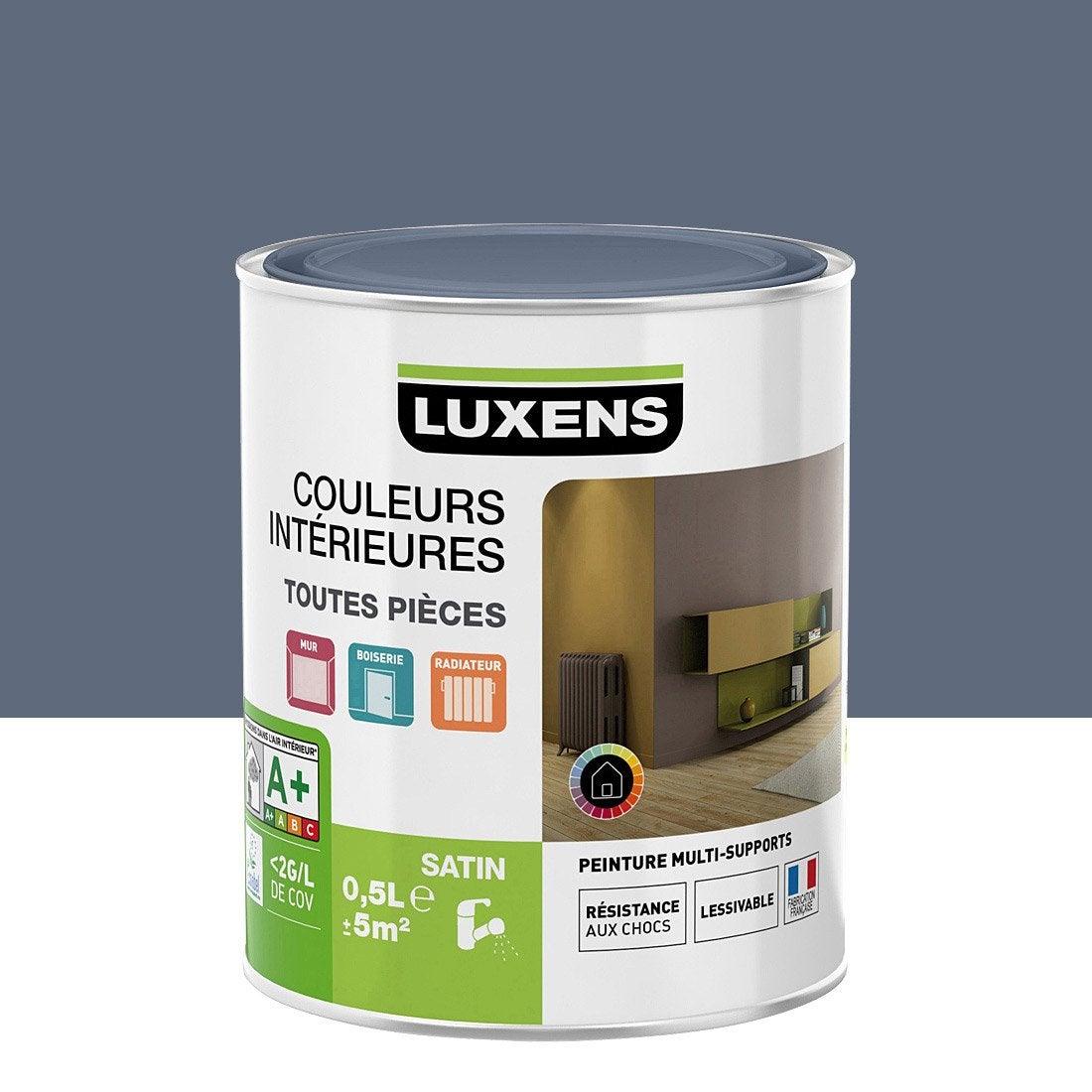 Peinture Couleur Zinc peinture gris zingué 3 satin luxens couleurs intérieures satin 0.5 l