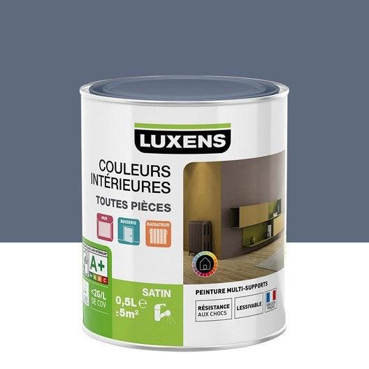 Peinture Gris Zingué 3 Luxens Couleurs Intérieures Satin 0.5 L