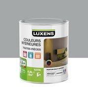 Peinture gris galet 4 LUXENS Couleurs intérieures satin 0.5 l
