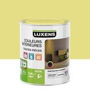 Peinture jaune anis 6 LUXENS Couleurs intérieures satin 0.5 l