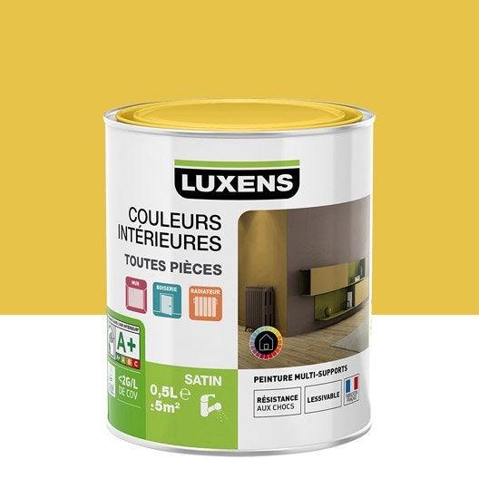Peinture jaune anis 4 LUXENS Couleurs intérieures satin 0.5 l