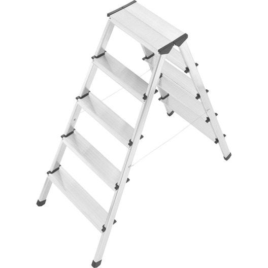 escabeau double aluminium 10 marches utilisation. Black Bedroom Furniture Sets. Home Design Ideas