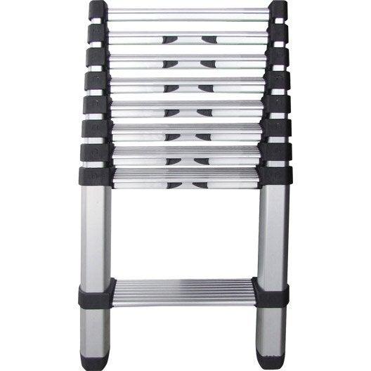 echelle t lescopique 9 marches hailo en aluminium. Black Bedroom Furniture Sets. Home Design Ideas