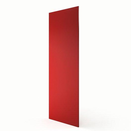 joue colonne de cuisine rouge d lice l65 x h200 cm leroy merlin. Black Bedroom Furniture Sets. Home Design Ideas
