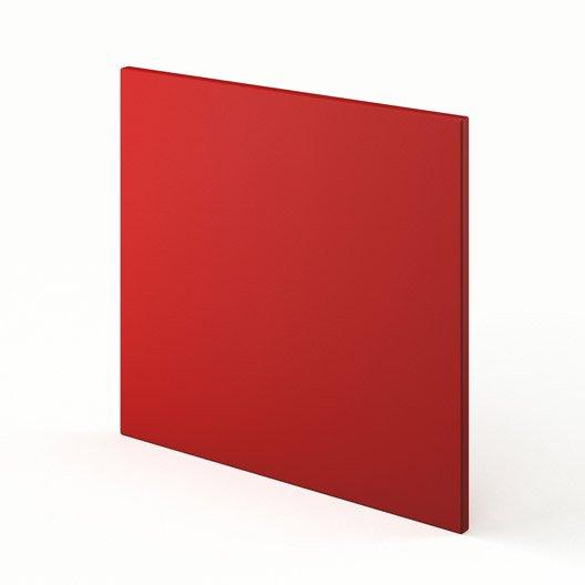porte lave-vaisselle de cuisine rouge délice, l.60 x h.55 cm