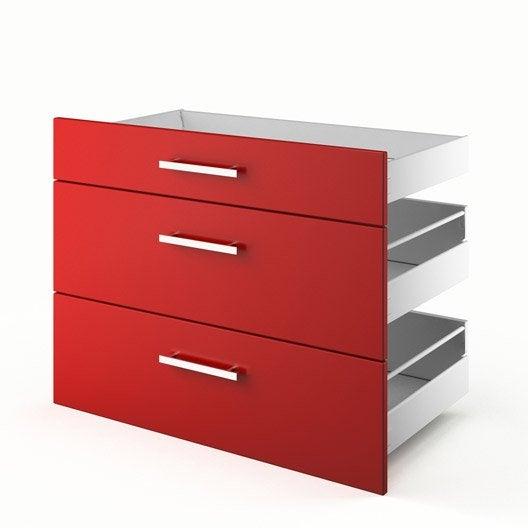 Idee Deco Chambre Bebe Hello Kitty : tiroirs de cuisine rouge 3D90 Délice, L90xH70xP55 cm