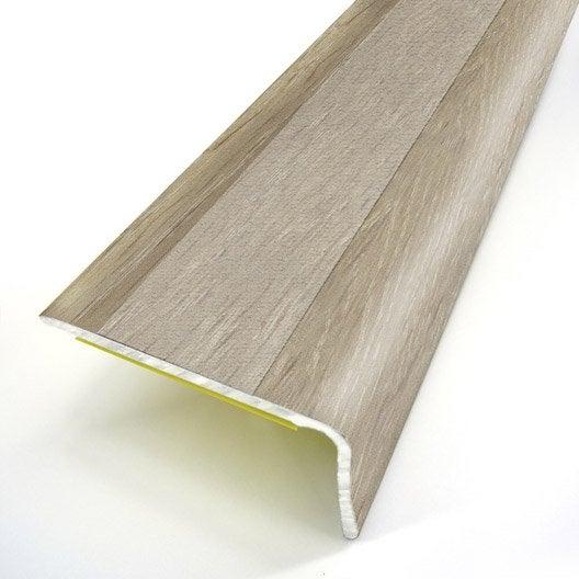 Nez de marche aluminium rev tu d co d cor ch ne x l 3 for Fixer nez de cloison