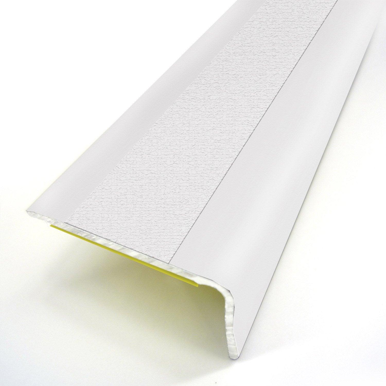 nez de marche aluminium rev tu d co blanc x l 3 6 cm. Black Bedroom Furniture Sets. Home Design Ideas