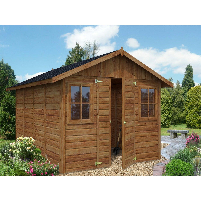 abri de jardin bois colombiere 9 3 m mm leroy merlin. Black Bedroom Furniture Sets. Home Design Ideas
