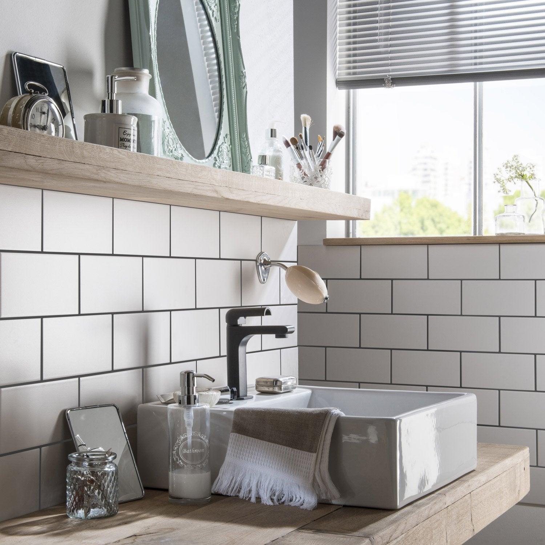 Faïence mur blanc-blanc n°0 mat l.10 x L.20 cm, Astuce