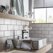 Faïence mur blanc blanc, Astuce l.10 x L.20 cm