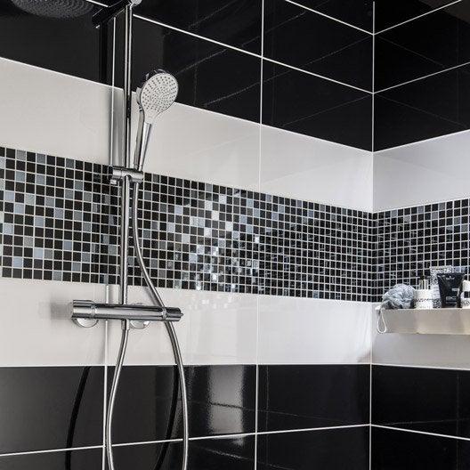 Carrelage mural et fa ence pour salle de bains et cr dence for Plinthe carrelage noir brillant 10 x 20