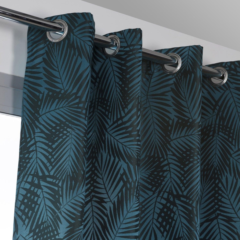 Rideau obscurcissant, Nerea bleu vert l.140 x H.260 cm