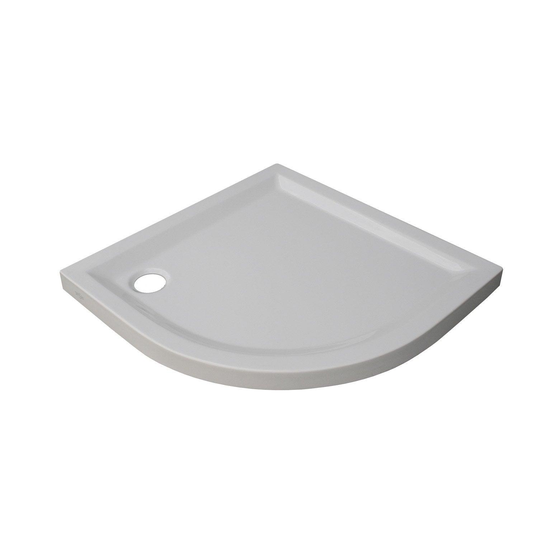 Receveur De Douche 1 4 De Cercle L 80 X L 80 Cm Acrylique Blanc