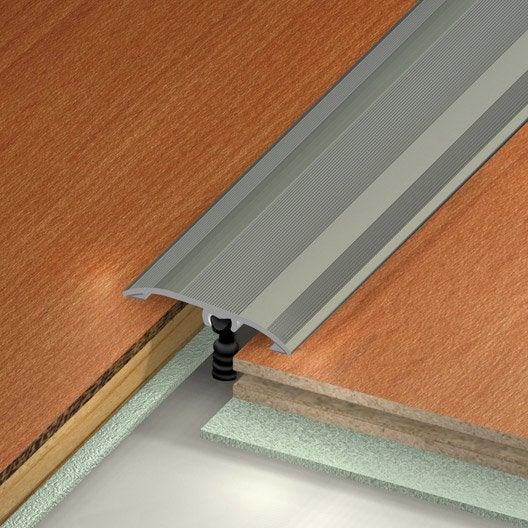 barre de seuil aluminium anodis gris x l 3 7 cm leroy merlin. Black Bedroom Furniture Sets. Home Design Ideas