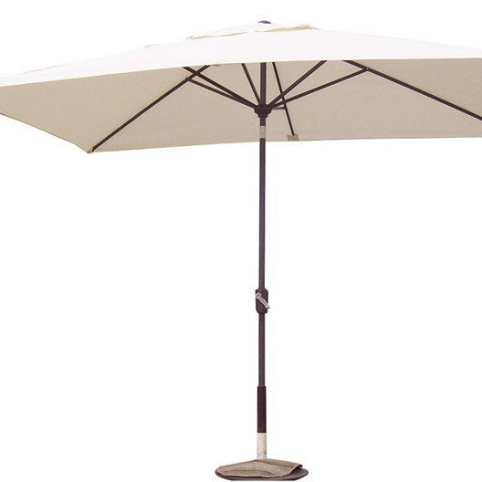 Parasol droit helios naterial blanc ivoire 6 m leroy merlin - Leroy merlin parasol deporte ...