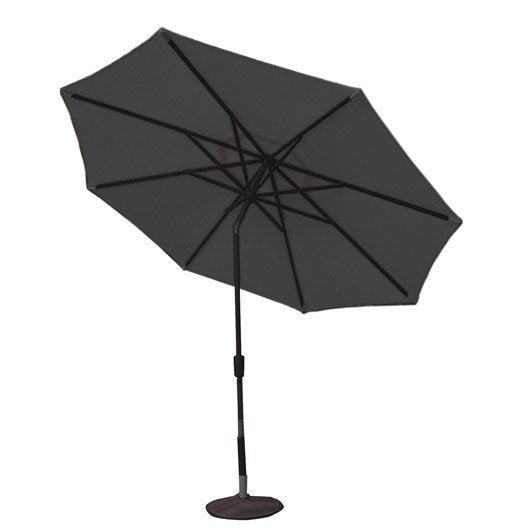 Parasol droit helios gris dor octogonal x cm leroy merlin - Pied parasol roulettes leroy merlin ...