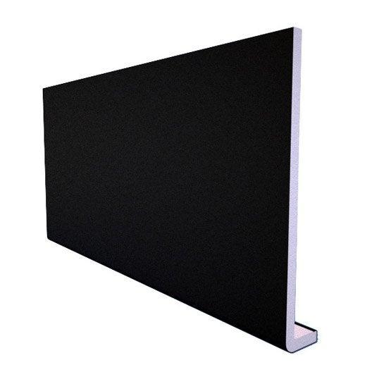 bandeau de rive de toiture noir pvc l 3 m x mm. Black Bedroom Furniture Sets. Home Design Ideas