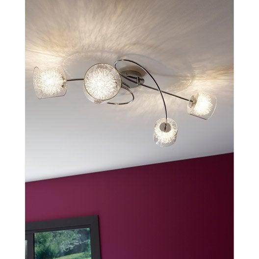 plafonnier altamura toile eglo chrom 4x40 watts. Black Bedroom Furniture Sets. Home Design Ideas