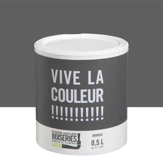 Peinture Gris Ardoise Vive La Couleur 0 5 L Leroy Merlin