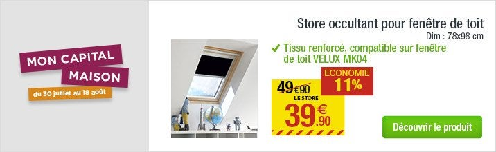 store velux volet roulant velux leroy merlin. Black Bedroom Furniture Sets. Home Design Ideas