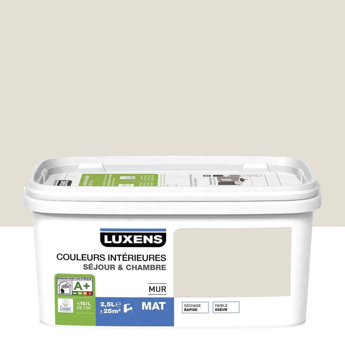 Peinture Blanc Lin 2 Satin Luxens Couleurs Int Rieures 2 5 L Leroy