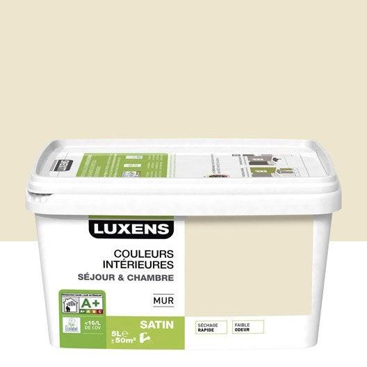 Peinture blanc ivoire 6 luxens couleurs int rieures 5 l leroy merlin - Peinture blanc ivoire ...