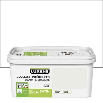 Peinture blanc blanc 0 LUXENS Couleurs intérieures 2.5 l