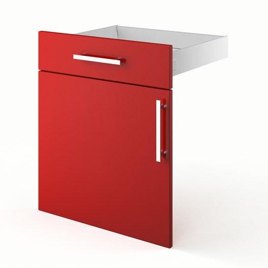 Porte et tiroir de cuisine rouge d lice x x p for Porte 70 cm de large