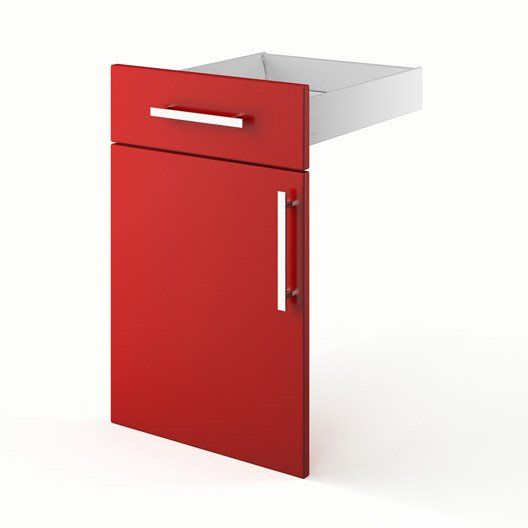 Idee Deco Chambre Bebe Hello Kitty : Porte + tiroir de cuisine rouge FD45 Délice, L45 X H70 X P55 cm