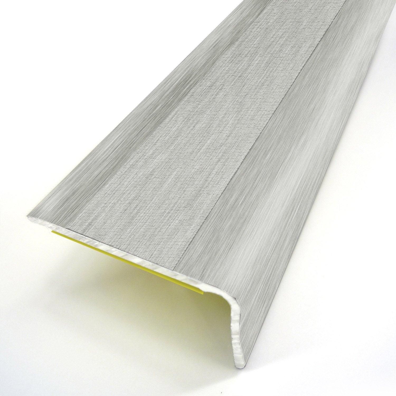 nez de marche aluminium rev tu d co gris x l 3 6 cm. Black Bedroom Furniture Sets. Home Design Ideas