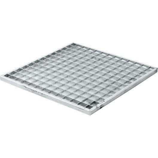 grille caillebotis acier galvanis 43x43 cm leroy merlin. Black Bedroom Furniture Sets. Home Design Ideas
