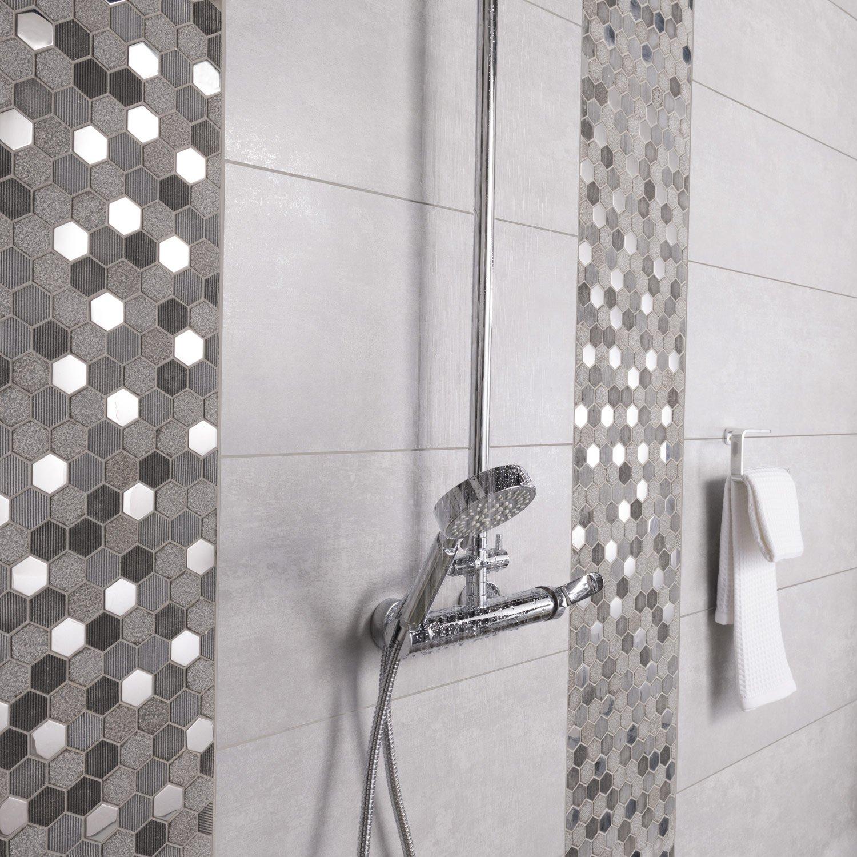carrelage sol et mur gris trsor l297 x l595 cm