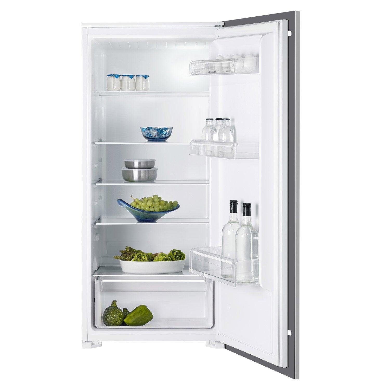 réfrigérateur intégrable brandt bil624es blanc   leroy merlin