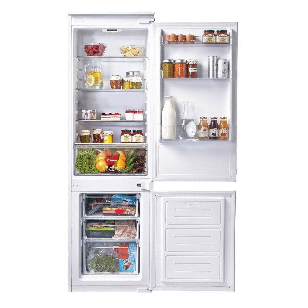 réfrigérateur intégrable candy ckbbs100 blanc   leroy merlin