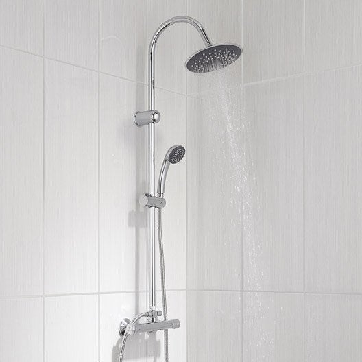 colonne de douche avec robinetterie nerea leroy merlin. Black Bedroom Furniture Sets. Home Design Ideas