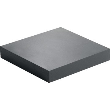 Etagère murale noir-noir n°0 SPACEO, 23X23,5X3,8 CM Ep.38 mm