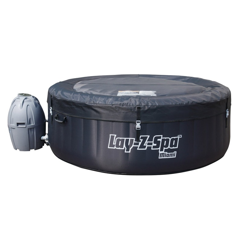 ce7984af930fa7 ... Spa gonflable BESTWAY Miami rond, 4 places assises ...