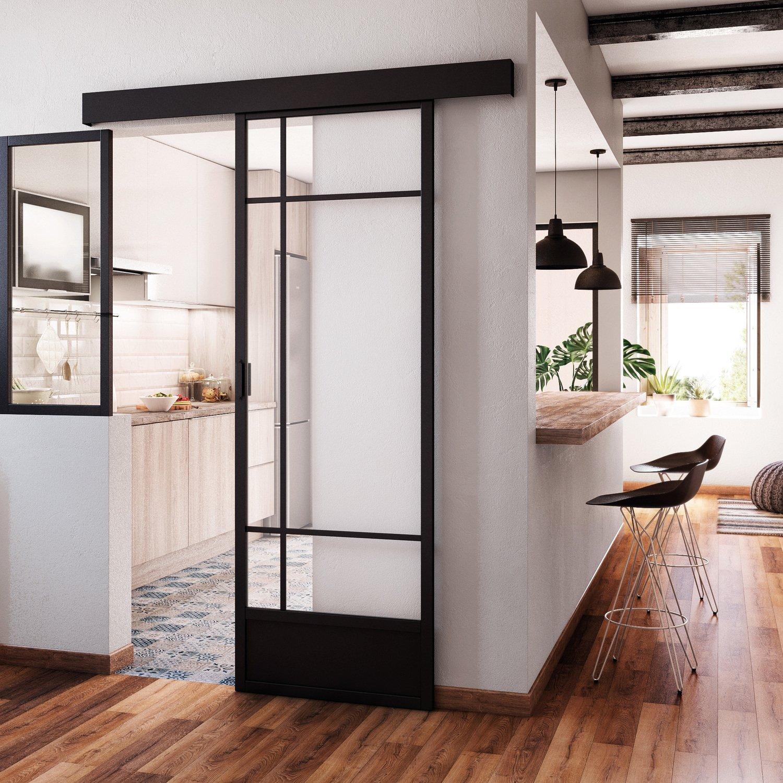Une porte coulissante atelier pour un style industriel leroy merlin - Porte de cuisine ...