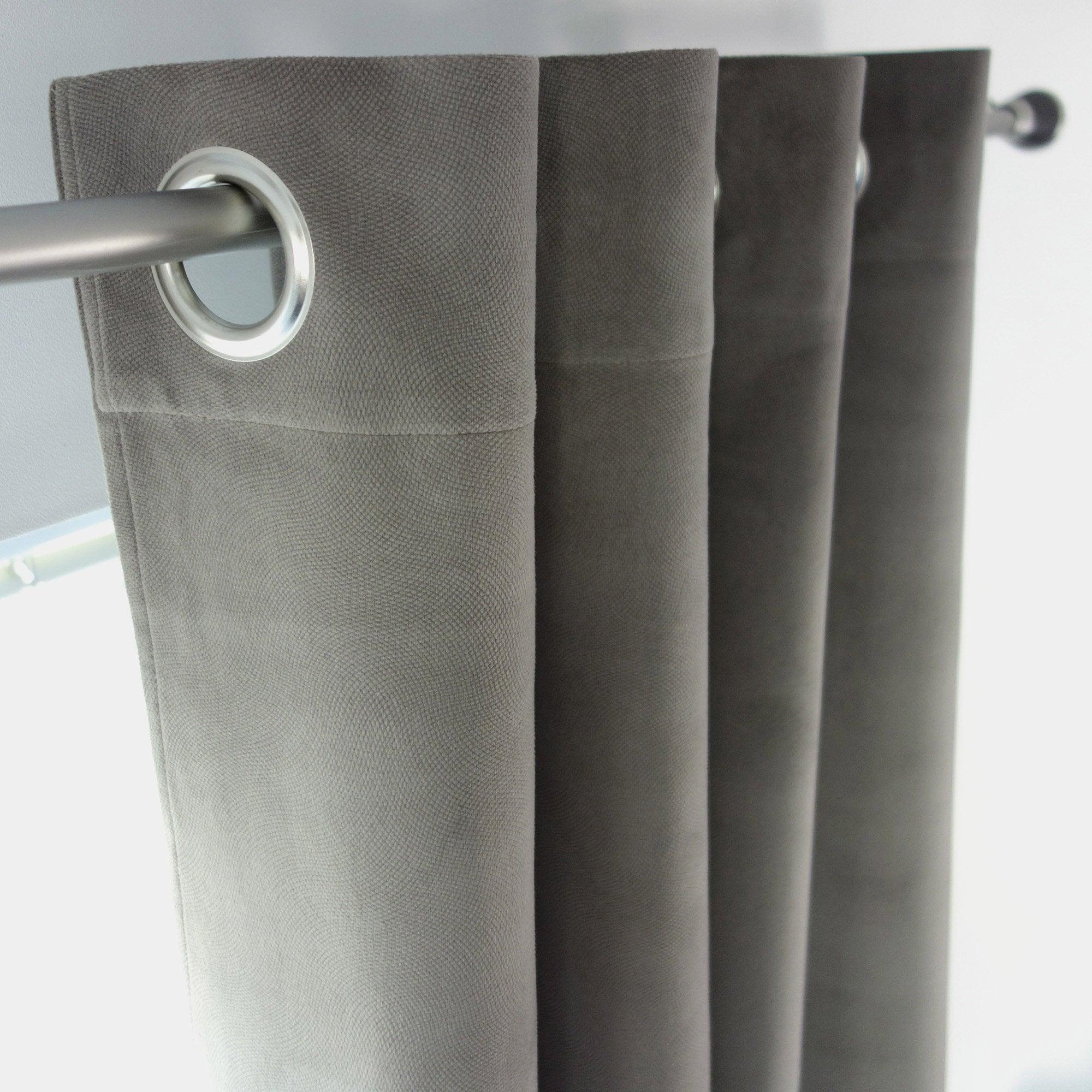 Rideau tamisant, Cambridge, taupe, l.140 x H.260 cm